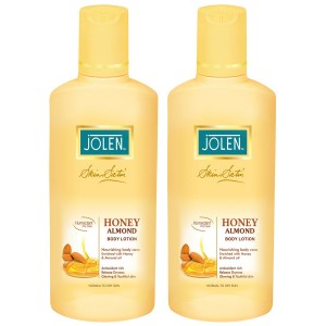 Buy Herbal Jolen Honey & Almond Lotion Twin Pack (25% Extra) - Nykaa