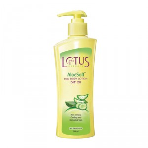 Buy Lotus Herbals AloeSoft Daily Body Lotion SPF 20 - Nykaa