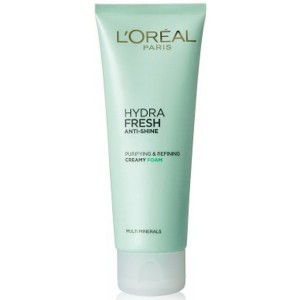 Buy Herbal L'Oreal Paris Hydrafresh Anti-Shine Purifying Refining Creamy Foam - Nykaa