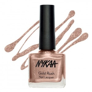 Buy Nykaa Gold Rush Nail Lacquer - Lost In Gold 133 - Nykaa