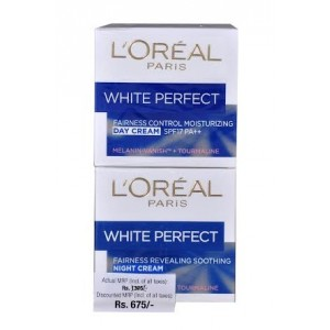 Buy L'Oreal Paris White Perfect Day + Night Cream Combo Pack - Nykaa