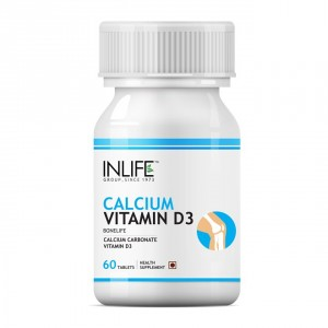 Buy INLIFE Calcium Vitamin D3, 60 Tablets For Healthy Bone, Knee & Joint Health - Nykaa