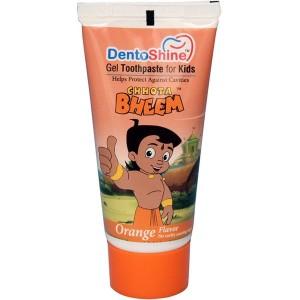 Buy DentoShine Chhota Bheem Gel Toothpaste For Kids - Orange - Nykaa