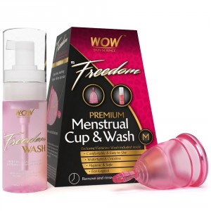 Buy WOW Freedom Reusable Menstrual Cup & Wash - Medium (Under 30 Year) - Nykaa