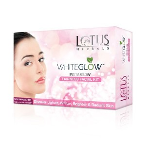 Buy Lotus Herbals Whiteglow Insta Glow Fairness Facial Kit - Nykaa