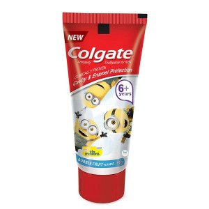 Buy Colgate Bubble Fruit Flavour Minions Toothpaste For Kids - Nykaa
