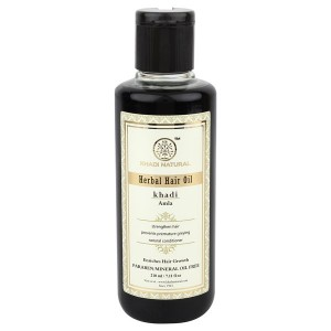 Buy Khadi Natural Pure Amla Herbal Hair Oil - Nykaa