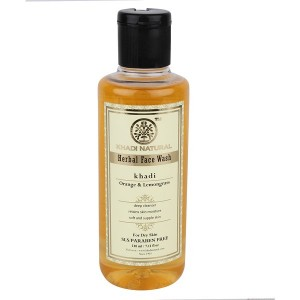 Buy Khadi Natural Orange & Lemongrass Face Wash (For Dry Skin) - Nykaa
