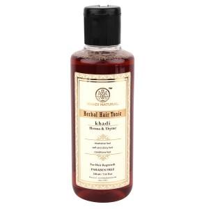 Buy Herbal Khadi Natural Thyme Henna Hair Tonic (Hair Regrowth Tonic. A Water Based Product) - Nykaa