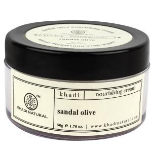 Buy Khadi Natural Sandal & Olive Herbal Nourishing Cream - Nykaa
