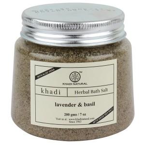 Buy Khadi Natural Lavender Basil Bath Salt - Nykaa