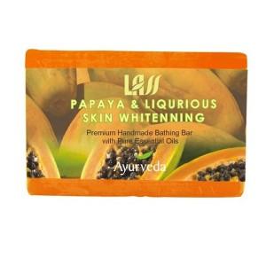 Buy Lass Naturals Papaya & Liqurious Skin Whitenning Soap - Nykaa