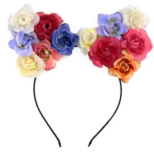 Buy The Blur Store - Floral Cat Ear Hairband - Nykaa