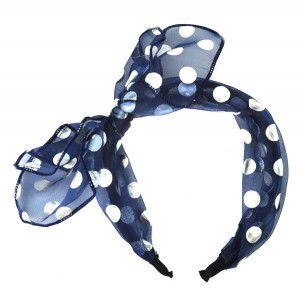 Buy The Blur Store Sheer Blue Polka Dot Hairband - Nykaa