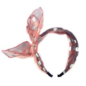 Buy The Blur Store - Sheer Pink Polka Dot Hairband - Nykaa