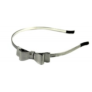 Buy The Blur Store - Gun Metal Double Bow Hair Band - Nykaa