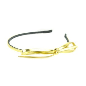 Buy The Blur Store Metallic Gold Bow Hair Band - Nykaa