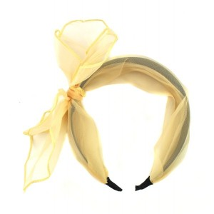 Buy The Blur Store - Sheer Cream Bow Hairband - Nykaa