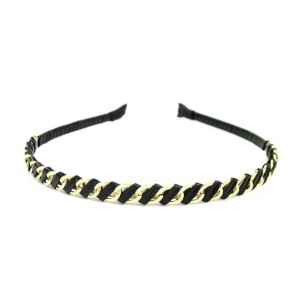 Buy The Blur Store - Black Cord Metal Chain Hair Band - Nykaa