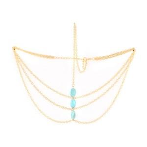 Buy The Blur Store - Blue Bead Chain Head Band - Nykaa
