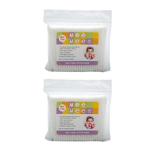 Buy Mee Mee Baby Cotton Buds - White (Pack Of 2) - Nykaa