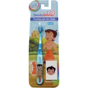 Buy DentoShine Chhota Bheem Comfort Grip Toothbrush For Kids - Blue - Nykaa