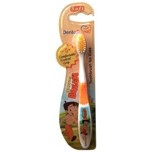 Buy DentoShine Chhota Bheem Comfortable Control Grip Toothbrush For 5+ Kids - Orange - Nykaa