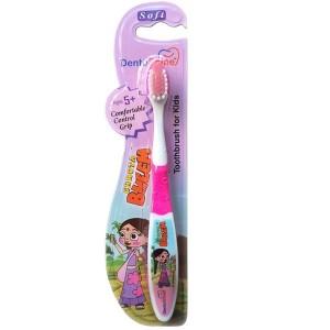 Buy DentoShine Chhota Bheem Comfortable Control Grip Toothbrush For 5+ Kids - Pink - Nykaa