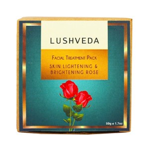 Buy Lushveda Facial Treatment Pack - Skin Lightening & Brightening Rose - Nykaa