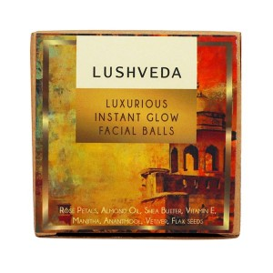 Buy Lushveda Luxurious Instant Glow Facial Balls - 4 Pieces - Nykaa