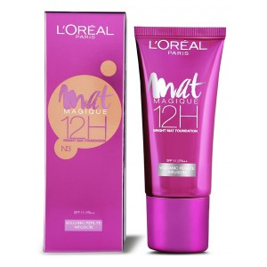 Buy L'Oreal Paris Mat Magique 12H Bright Mat Foundation - N3 - Nykaa