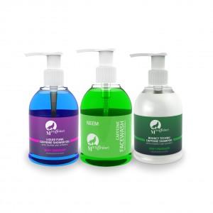 Buy MCaffeine Bath Essentials - Caffeine Shampoo + Neem Caffeine Face Wash + Caffeine Shower Gel - Nykaa