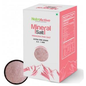 Buy NutroActive Mineral Salt Himalayan Pink Salt Extra Fine Grain (0.5-1 mm) - Nykaa