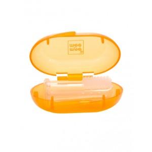 Buy Mee Mee Baby Unique Finger Brush - Orange - Nykaa