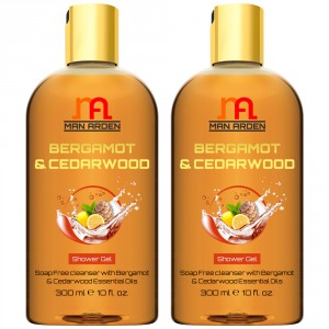 Buy Man Arden Bergamot & Cedarwood Shower Gel(Pack of 2) - Nykaa