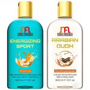 Buy Herbal Man Arden Energizing Sport + Arabian Oudh Shower Gel - Nykaa