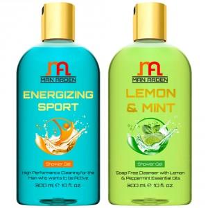 Buy Man Arden Energizing Sport + Lemon & Mint Shower Gel - Nykaa