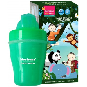Buy Herbal Morisons Baby Dreams Safari Insulated Straw Sipper - Green - Nykaa