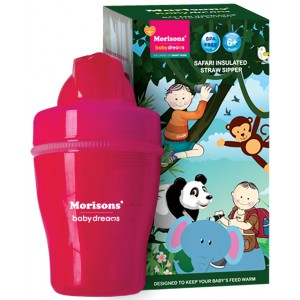 Buy Herbal Morisons Baby Dreams Safari Insulated Straw Sipper - Pink - Nykaa