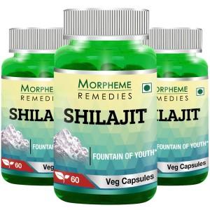 Buy Morpheme Shilajit 500mg Extract 60 Veg Caps - (3 Bottles) - Nykaa