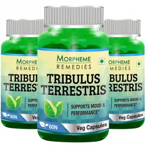 Buy Morpheme Tribulus Terrestris Caps 500mg Extract - 60 Veg Caps (3 Bottles) - Nykaa