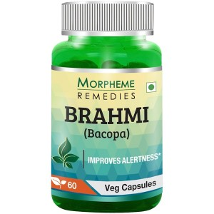 Buy Morpheme Remedies Bacopa (Brahmi) Capsules for Mental Alertness - 500mg Extract - Nykaa