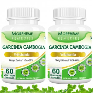 Buy Morpheme Remedies Garcinia Cambogia for Weight Control - HCA > 60% - 500mg Extract (Pack of 2) - Nykaa