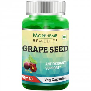 Buy Morpheme Grape Seed Extract 500mg Extract - 60 Veg Caps. - Nykaa