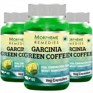 Buy Morpheme Remedies Garcinia Green Coffee 500mg Extract - 3 Bottles - Nykaa