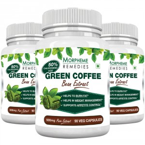 Buy Morpheme Remedies Green Coffee Bean Extract 500mg - Pack of 3 - Nykaa