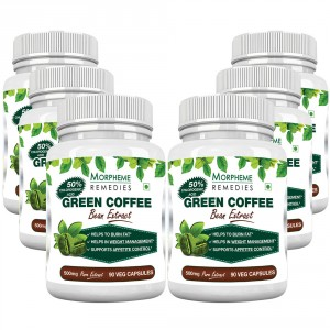 Buy Morpheme Remedies Green Coffee Bean Extract 500mg - Pack of 6 - Nykaa