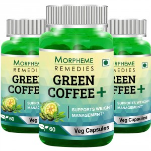Buy Morpheme Remedies Green Coffee+ (Pack of 3) - Nykaa