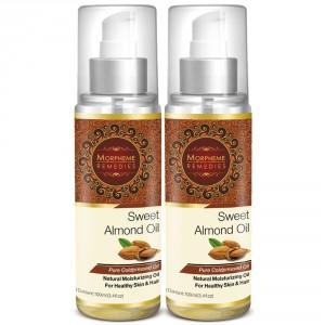 Buy Morpheme Remedies Pure Coldpressed Sweet Almond Oil (Pack of 2) - Nykaa