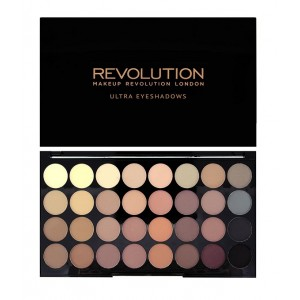 Buy Herbal Makeup Revolution Ultra 32 shade Eyeshadow Palette Flawless Matte - Nykaa